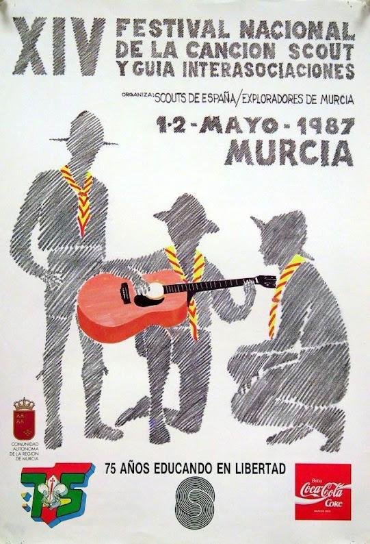 1987 Cartel Festival Canción Scout