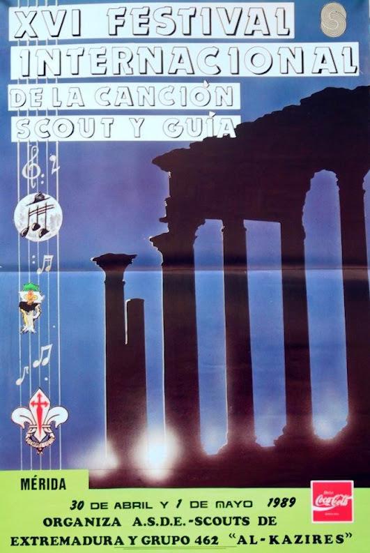 1989 Cartel Festival Canción Scout