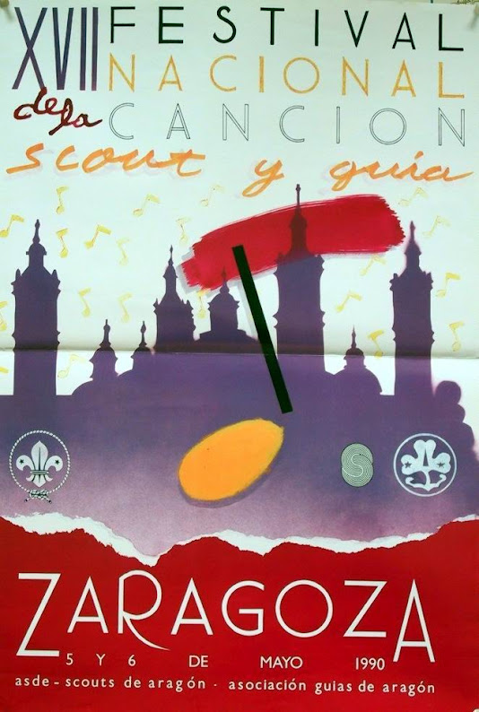 1990 Cartel Festival Canción Scout