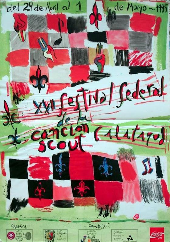 1995 Cartel Festival Canción Scout