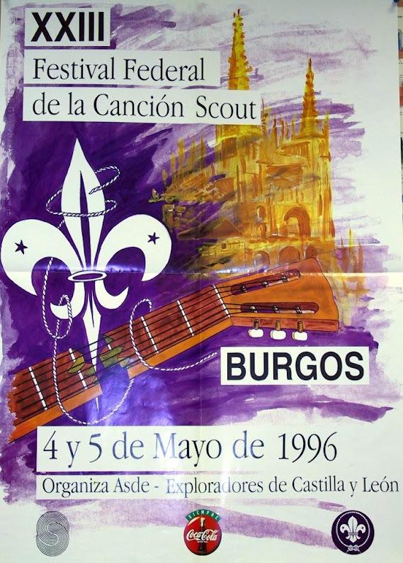 1996 Cartel Festival Canción Scout