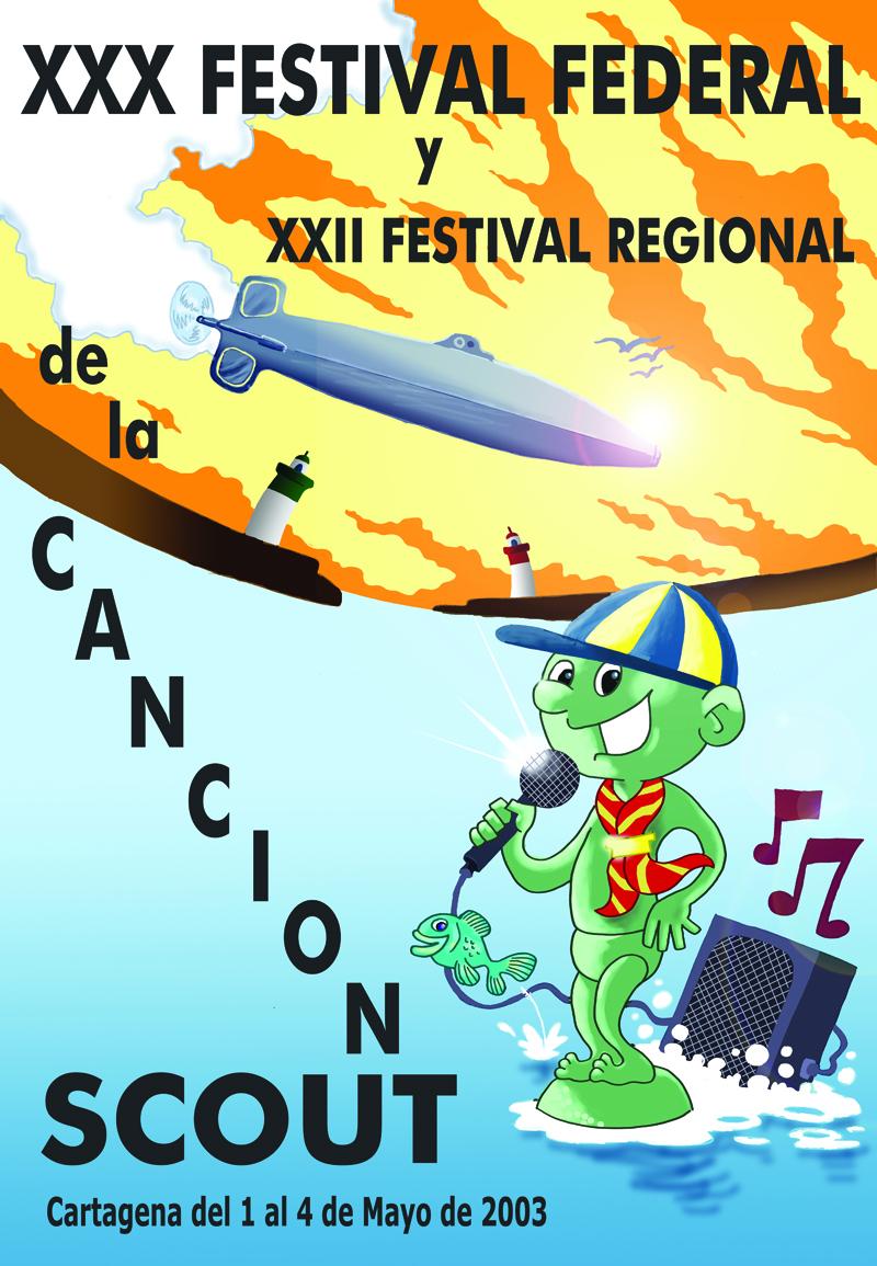 2003 Cartel Festival Canción Scout