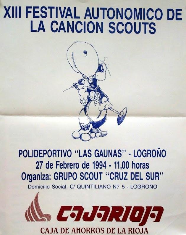 1994 Cartel Festival de la Canción de La Rioja