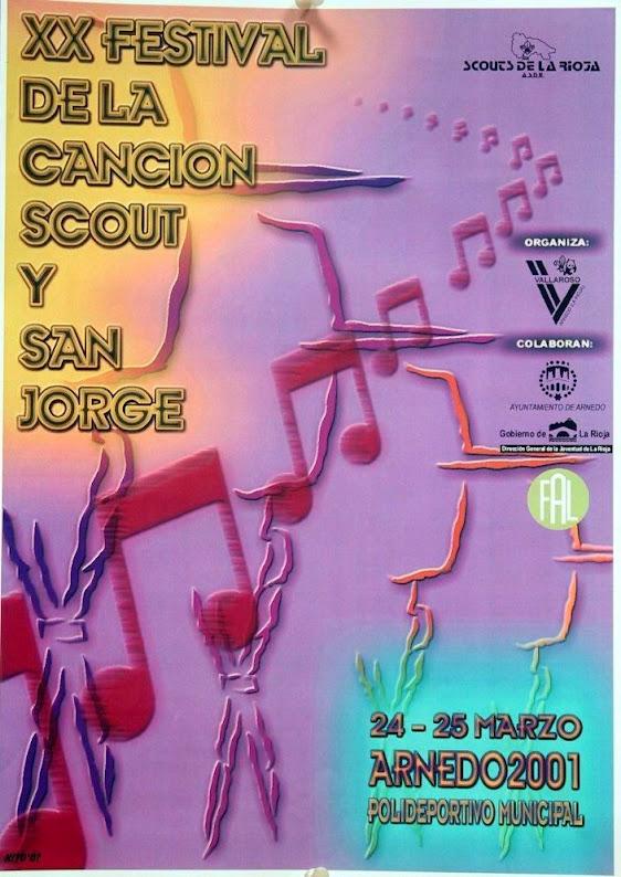 2001 Cartel Festival de la Canción de La Rioja