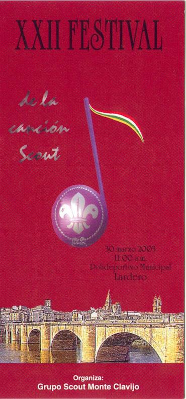 2003 Cartel Festival de la Canción de La Rioja