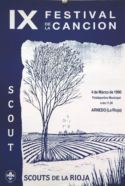 1990 Cartel Festival de la Canción de La Rioja