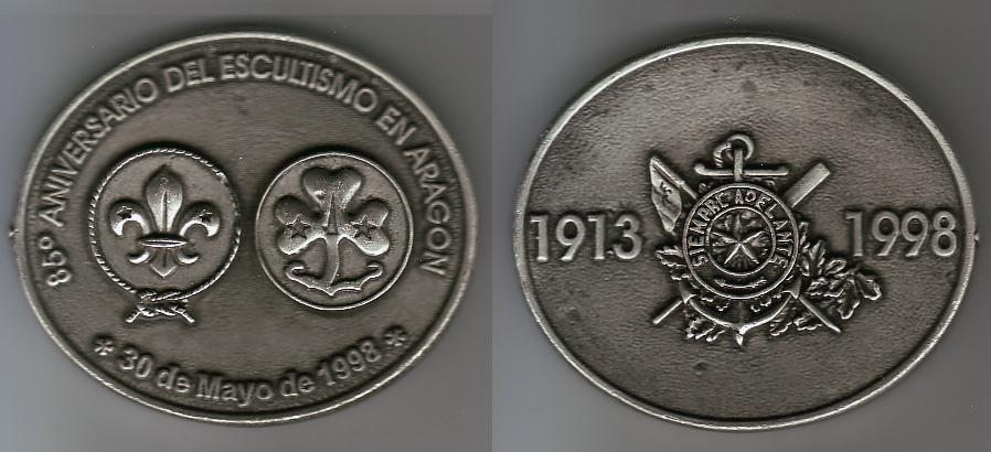 1998 Recuerdo Scouts de Aragón
