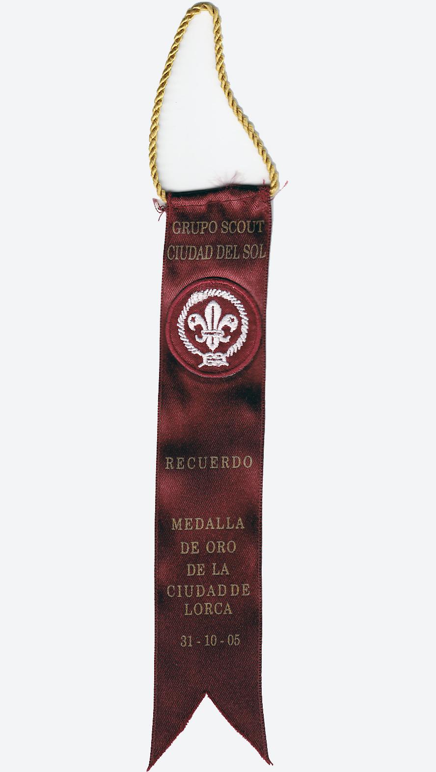 2005 Recuerdo Grupo Scout Ciudad del Sol 108